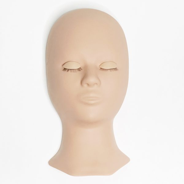 Eyelash Extension Training Mannequin Head with Replaceable Eyelids